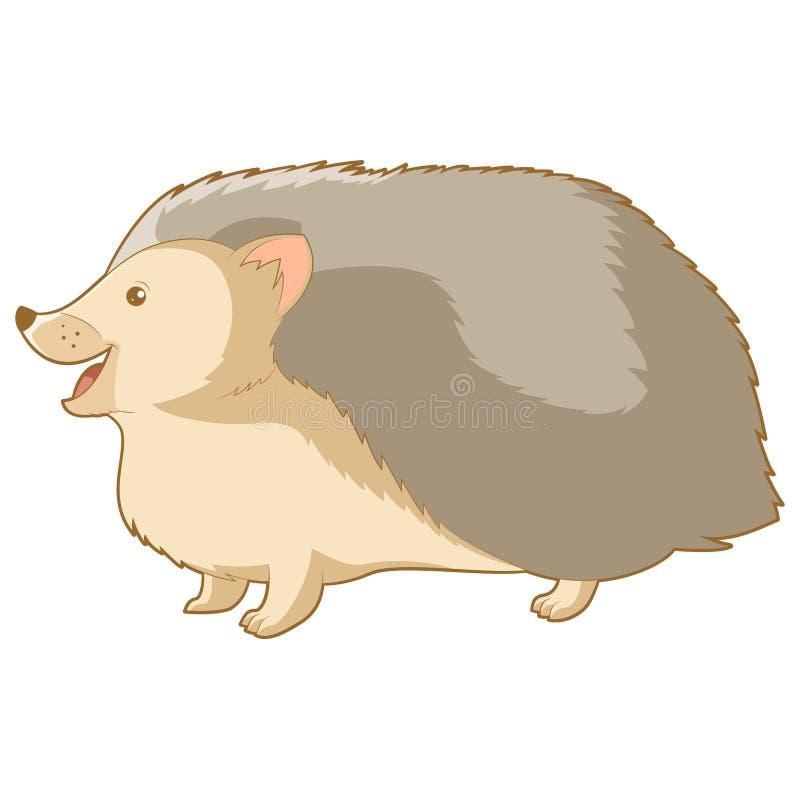 Tecknad film som ler igelkotten vektor illustrationer