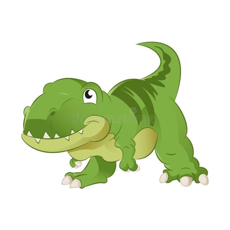 Tecknad film T-rex stock illustrationer