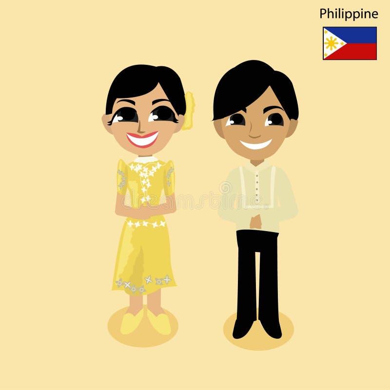 Tecknad filmASEAN-Filippinerna royaltyfri bild