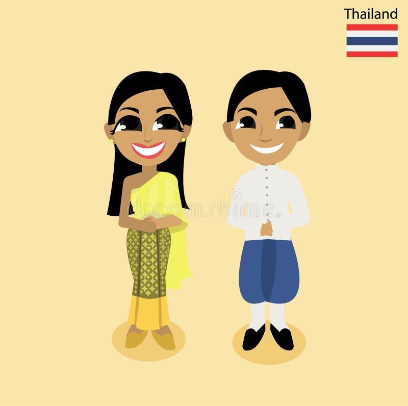 Tecknad filmASEAN Thailand royaltyfria bilder