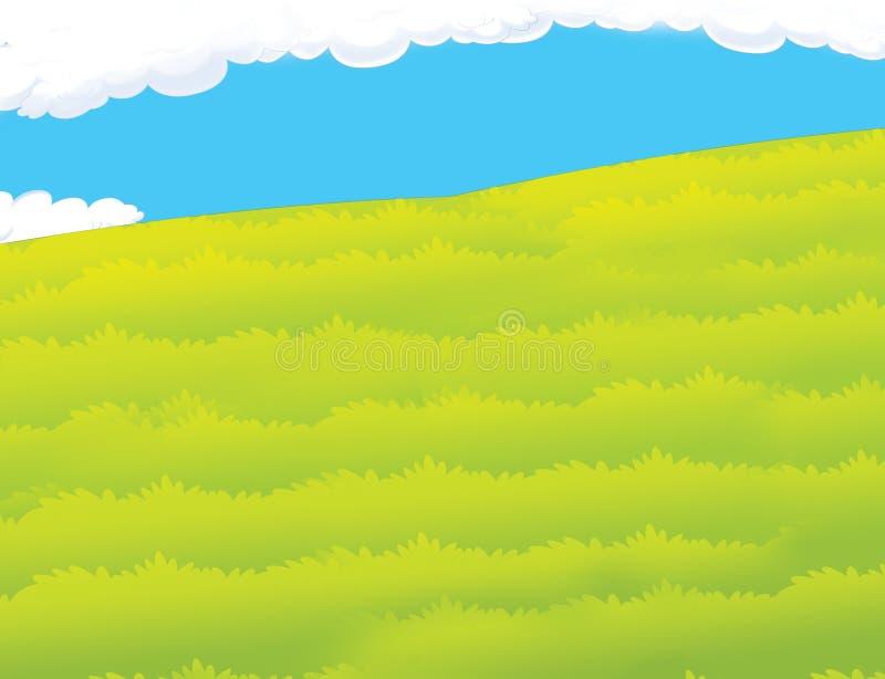 Tecknad filmbakgrund av betar - gräs vektor illustrationer