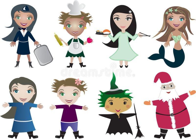 tecknad filmbarnvektor royaltyfri illustrationer
