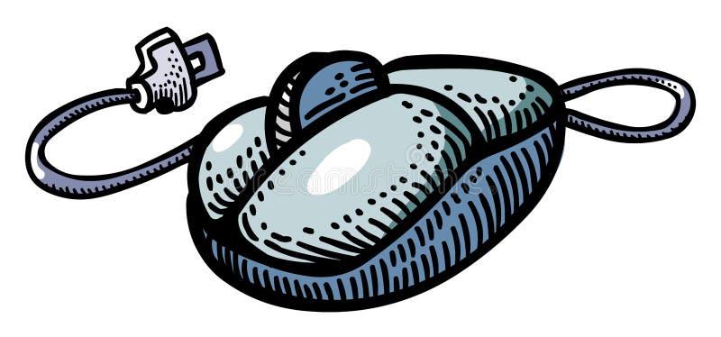 Tecknad filmbild av datormussymbolen royaltyfri illustrationer