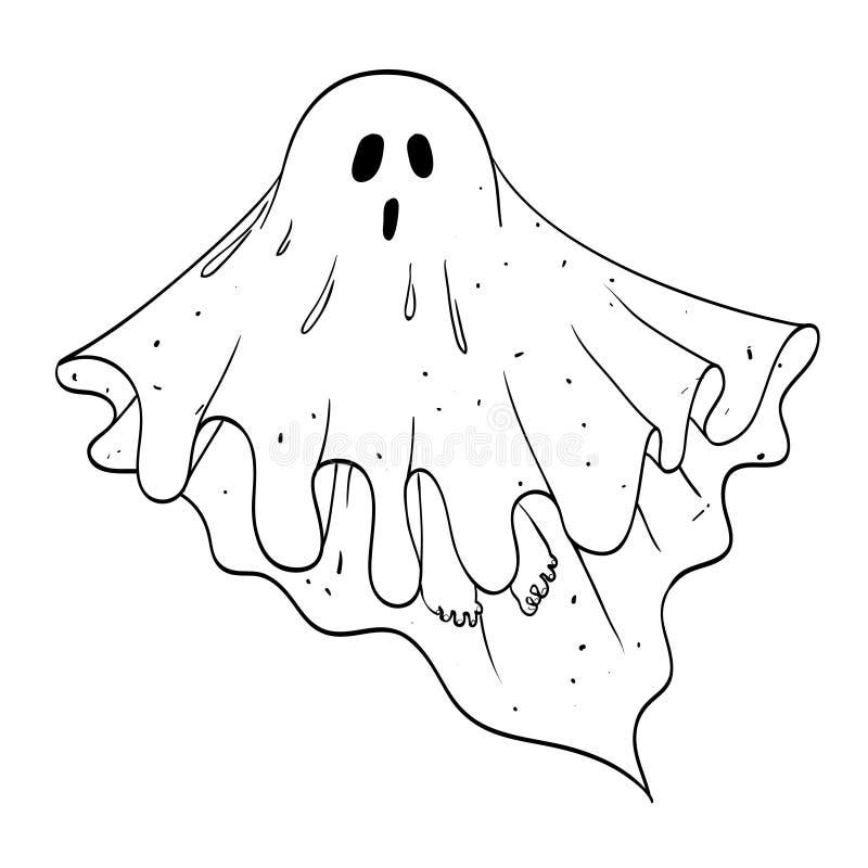 Tecknad filmbild av spöken vektor illustrationer. Illustration av utseende  - 92104736