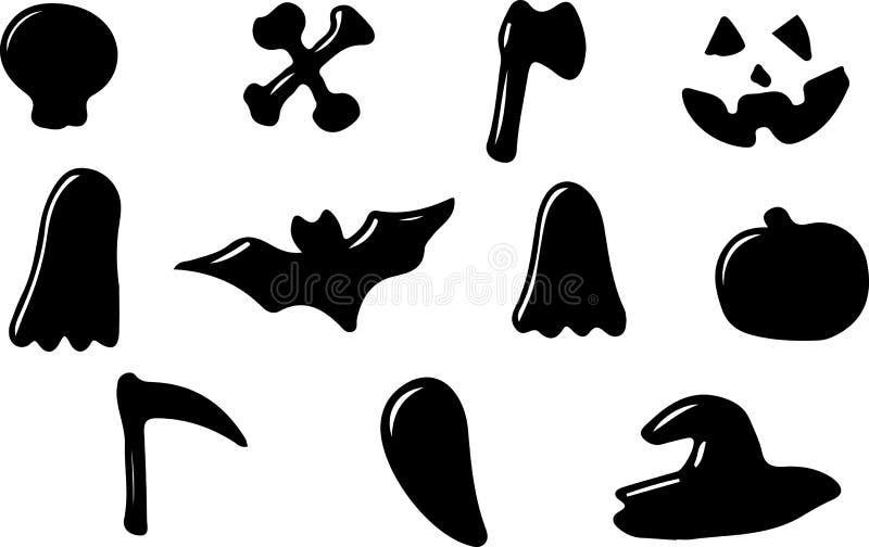 Tecknad filmbildsamling Bästa illustrationer som används mestadels i tecknade filmer Abstrakt design av tecknad filmbilder royaltyfri illustrationer