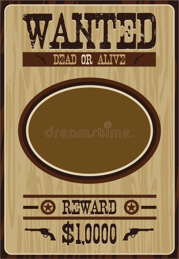 Tecknad filmcowboy Poster stock illustrationer