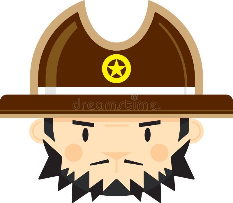 Tecknad filmcowboy Sheriff royaltyfri illustrationer