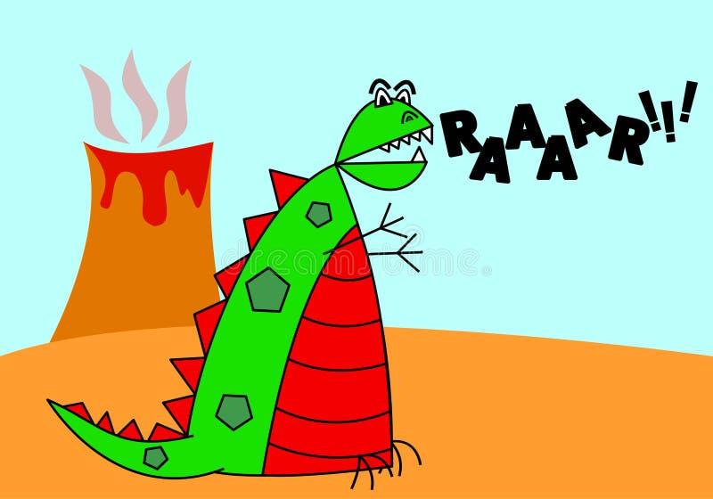 tecknad filmdinosaur stock illustrationer