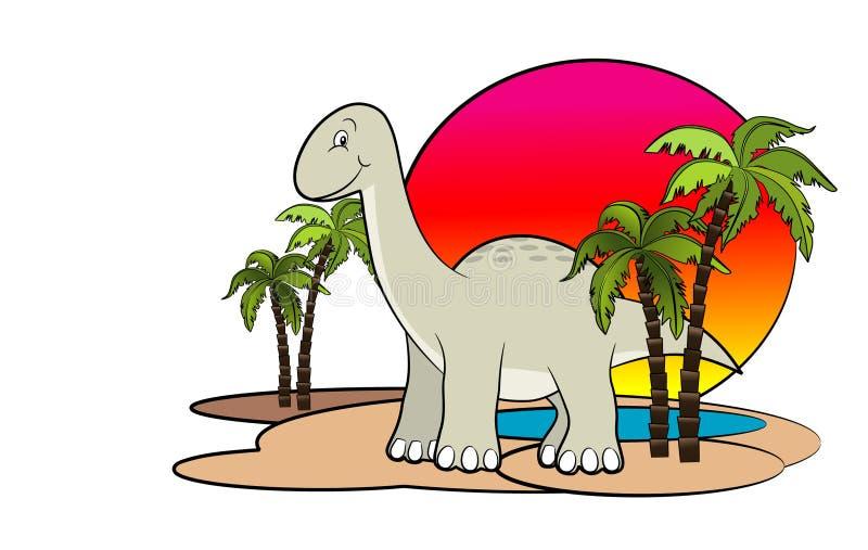 tecknad filmdinosaur royaltyfri illustrationer
