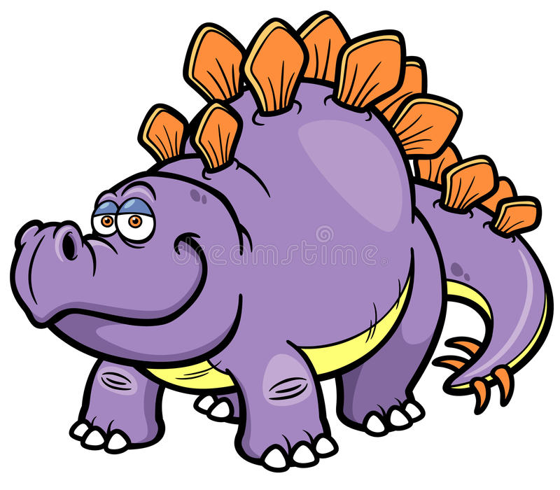Tecknad filmdinosaurie stock illustrationer