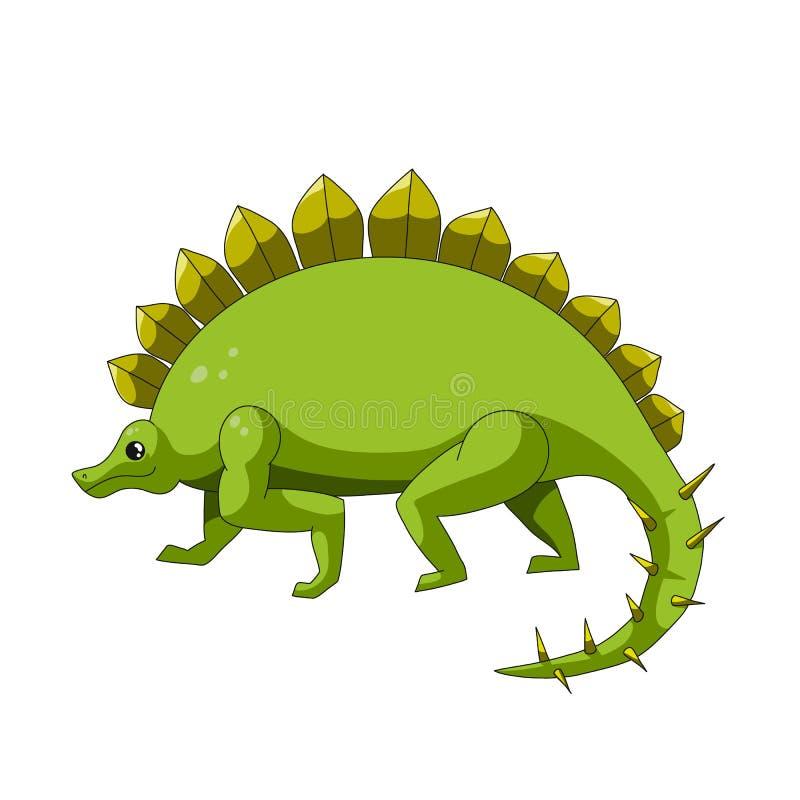 Tecknad filmdinosauriesymbol stock illustrationer