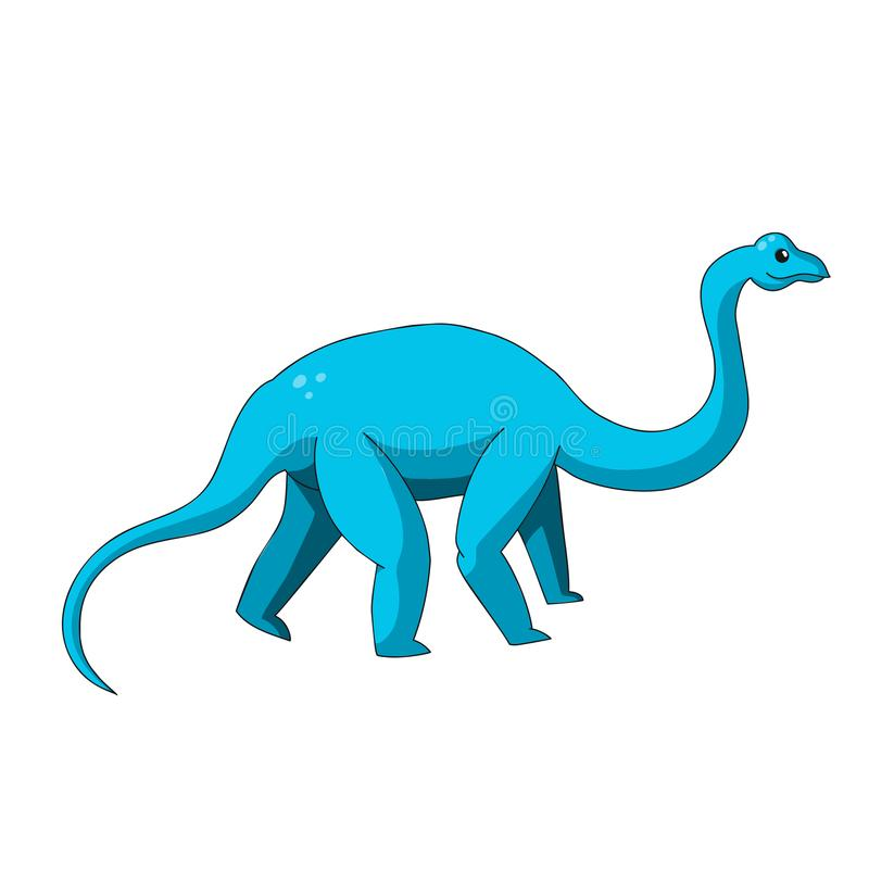 Tecknad filmdinosauriesymbol royaltyfri illustrationer