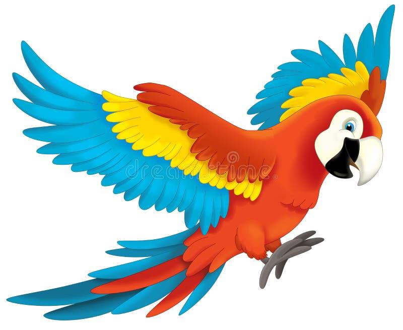 Tecknad filmdjur - illustration för barnen vektor illustrationer