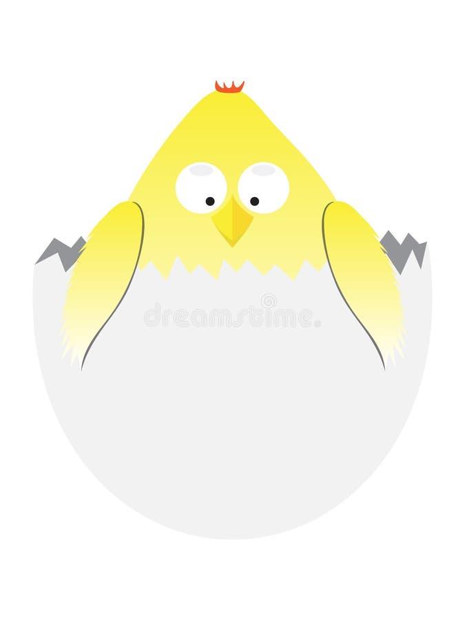 Tecknad filmeaster höna i ägg rolig djur illustration för vektor vektor illustrationer