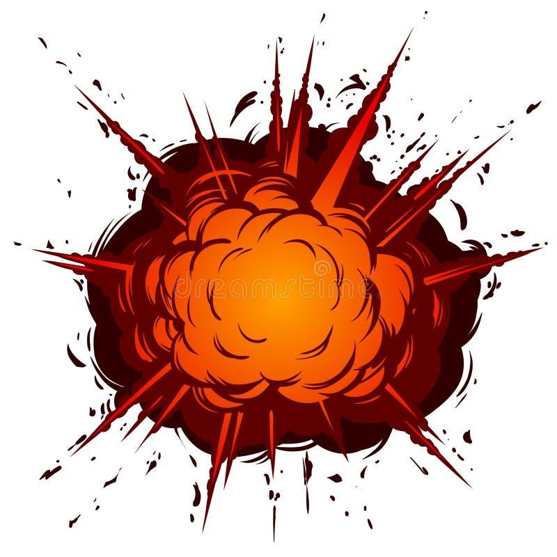 Tecknad filmexplosion vektor illustrationer