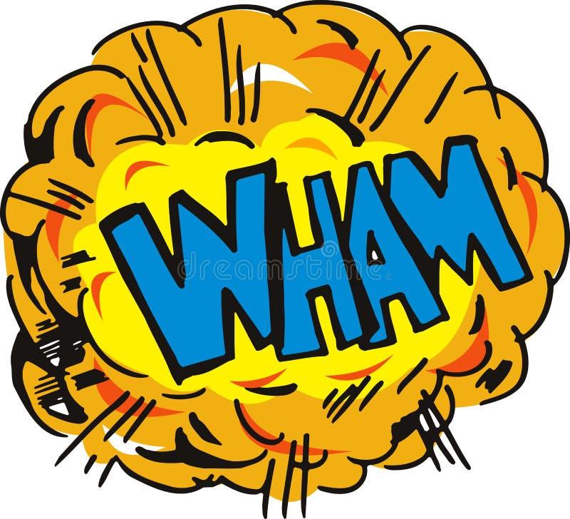 tecknad filmexplosionen wham vektor illustrationer