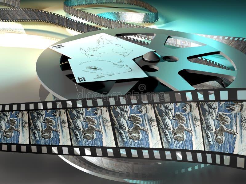 tecknad filmfilm royaltyfri illustrationer