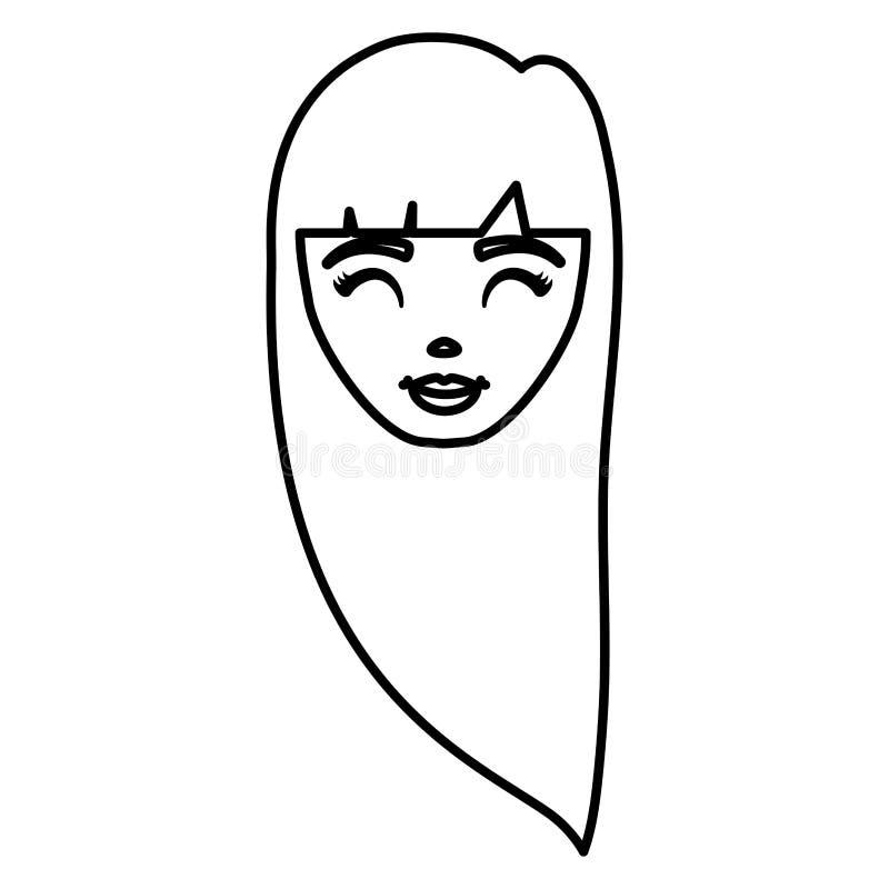 Tecknad filmflickadesign royaltyfri illustrationer