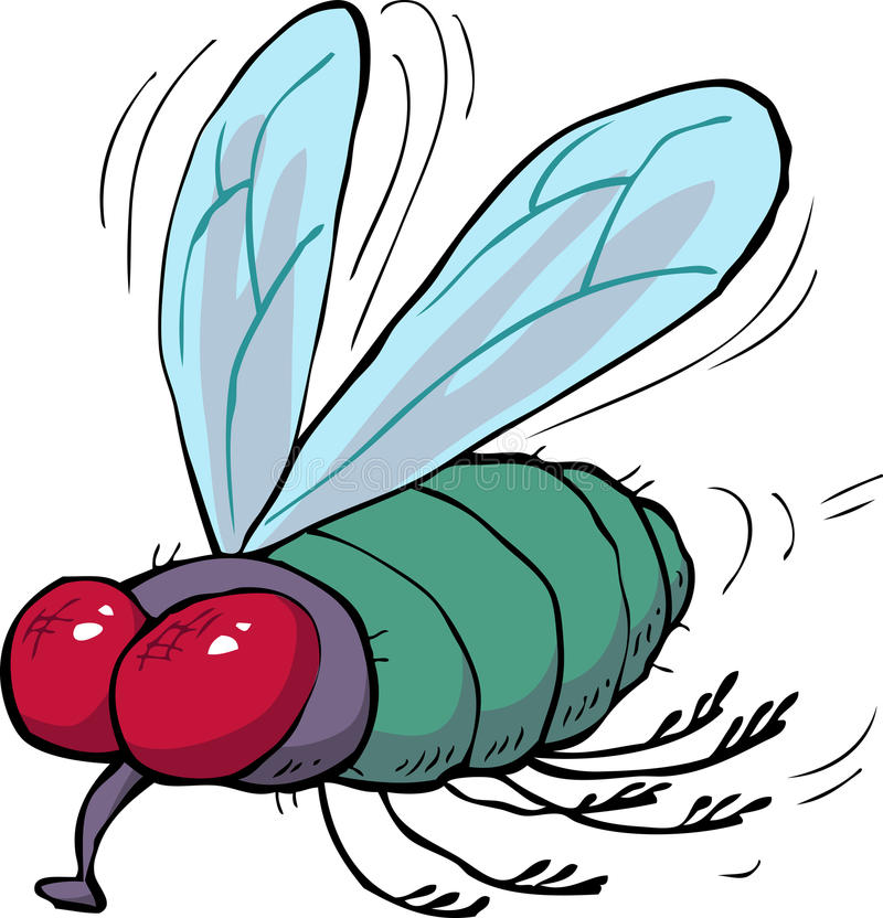 Tecknad filmgräsplanfluga vektor illustrationer