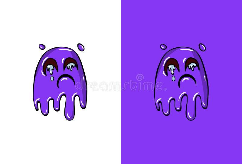 Tecknad filmgråtframsida i spökestil stock illustrationer
