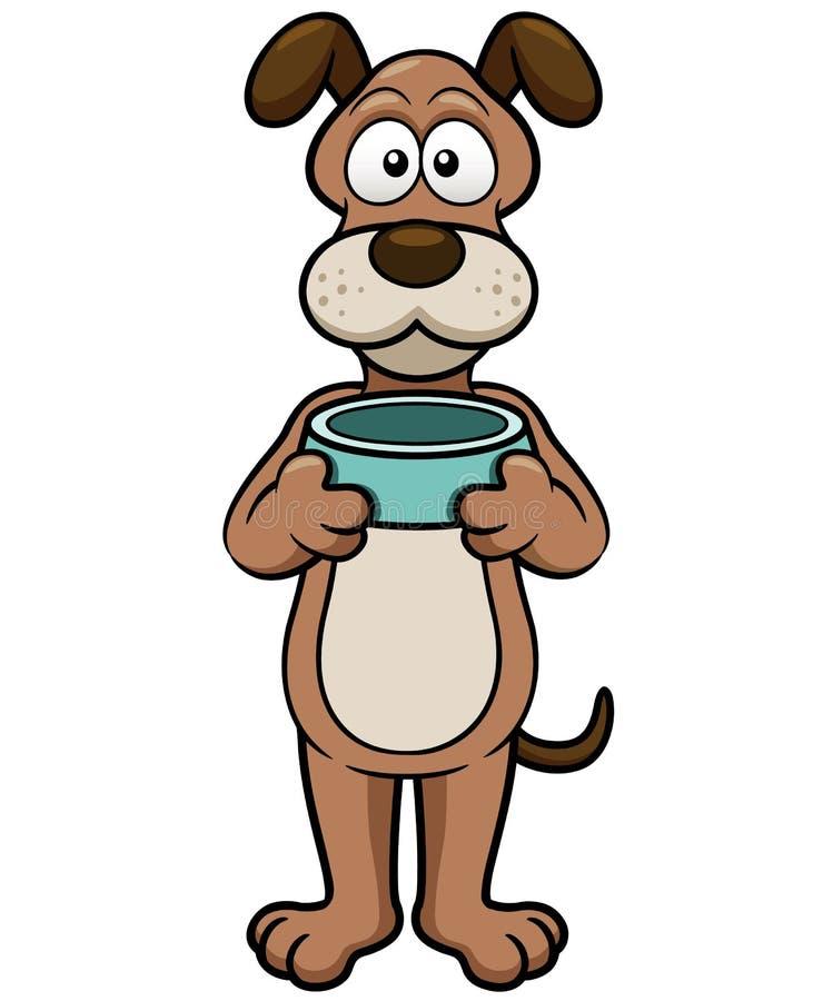 Tecknad filmhund stock illustrationer