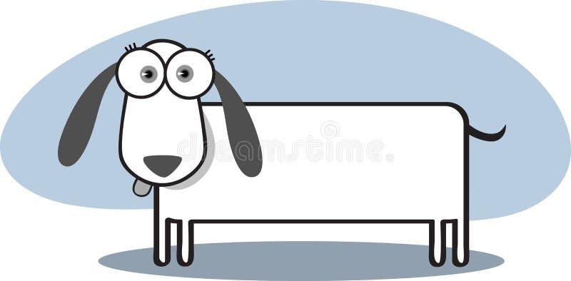 tecknad filmhund vektor illustrationer