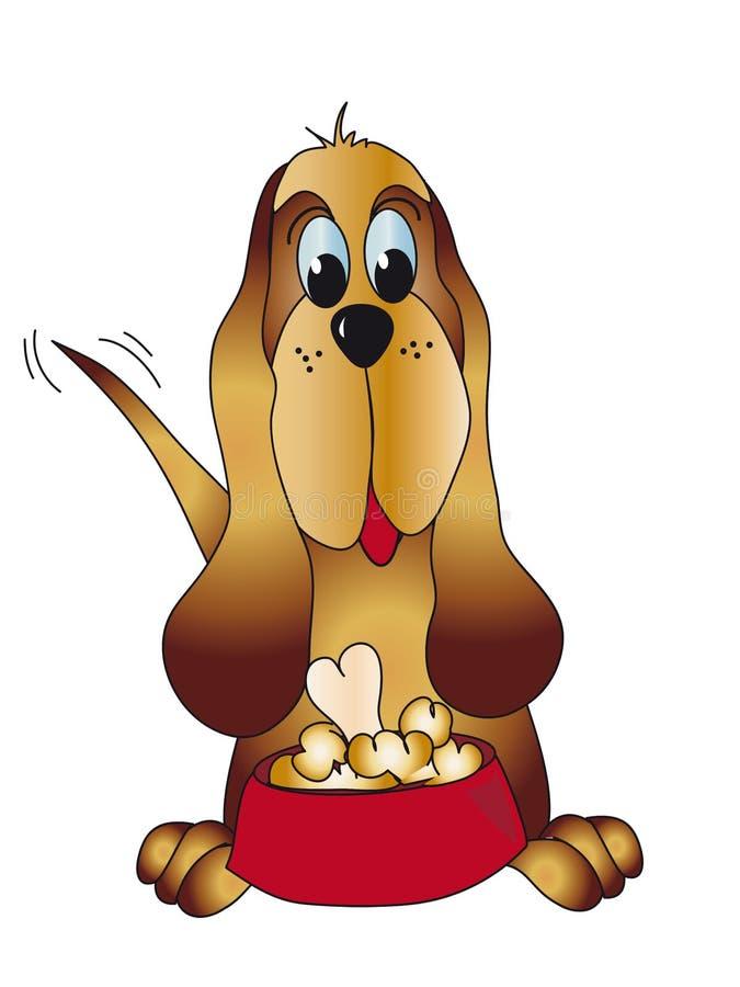 tecknad filmhund royaltyfri illustrationer
