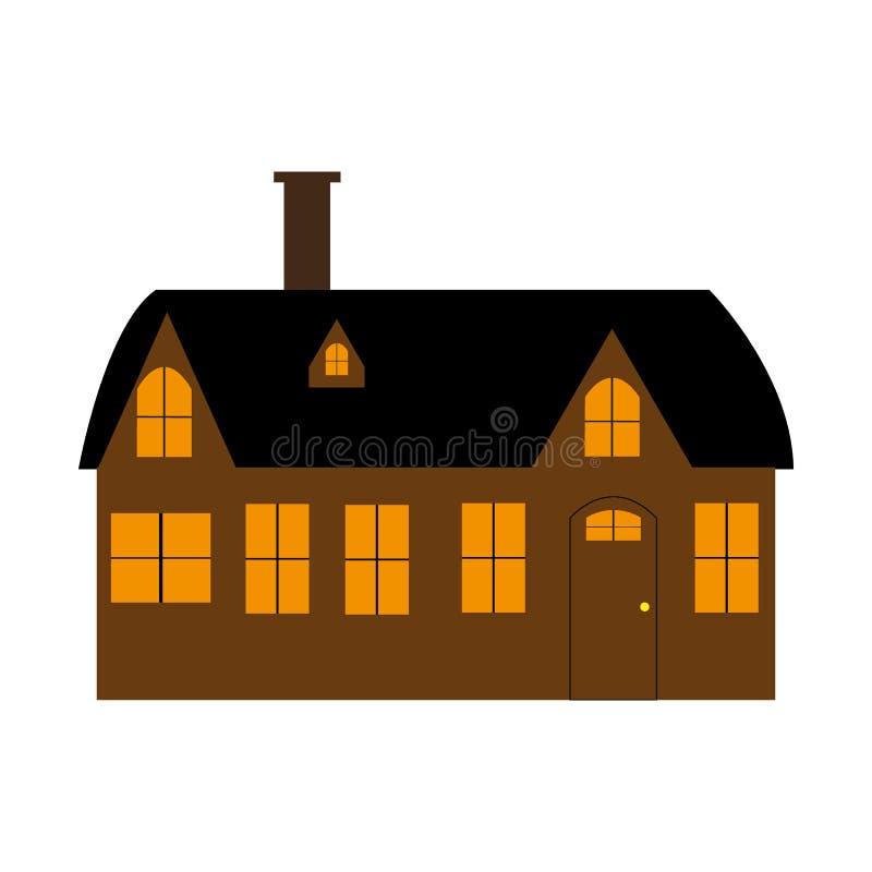 Tecknad filmhus på vit bakgrund vektor illustrationer