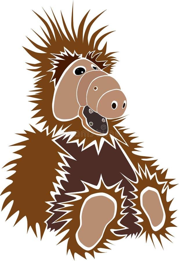 Tecknad filmillustration av Alf vektor illustrationer