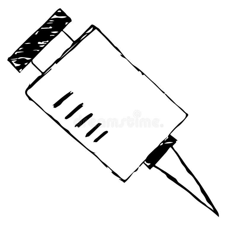 Tecknad filminjektionsspruta vektor illustrationer