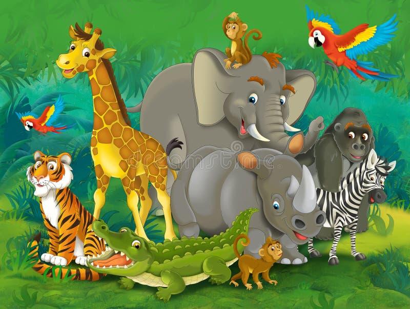Tecknad filmjunge - illustration för barnen vektor illustrationer