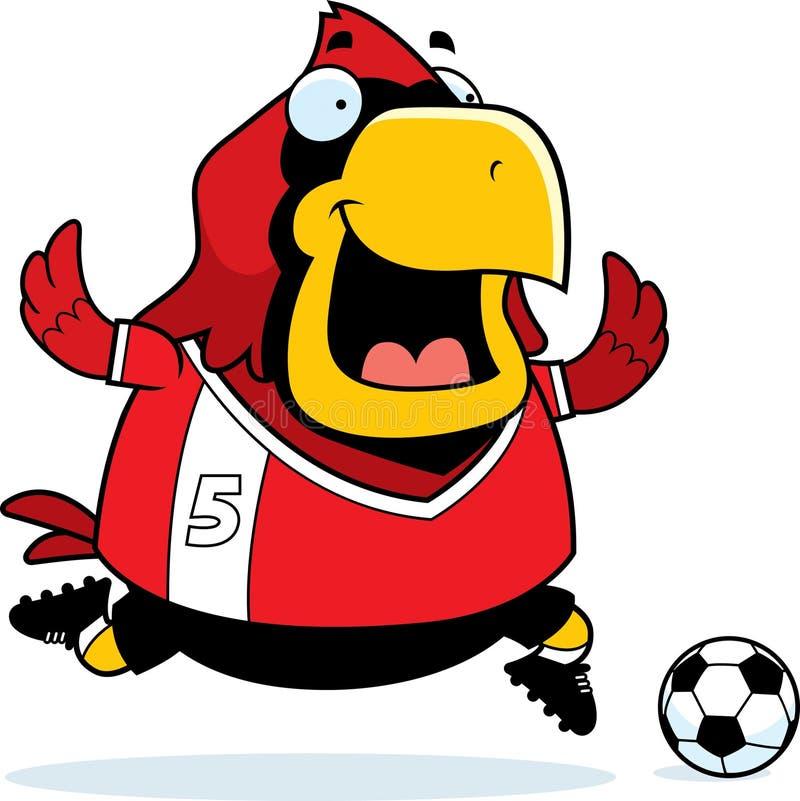 Tecknad filmkardinal Soccer stock illustrationer