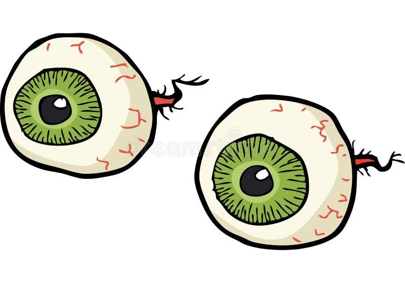 Tecknad filmklotterögon stock illustrationer