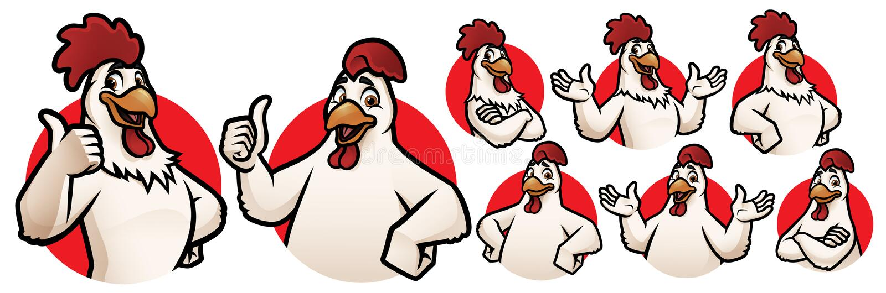 Tecknad filmkomaskot för logo royaltyfria bilder