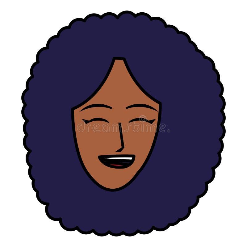 Tecknad filmkvinnasymbol stock illustrationer