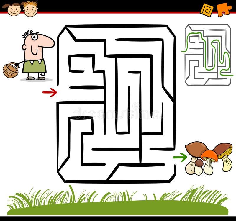 Tecknad filmlabyrint eller labyrintlek royaltyfri illustrationer
