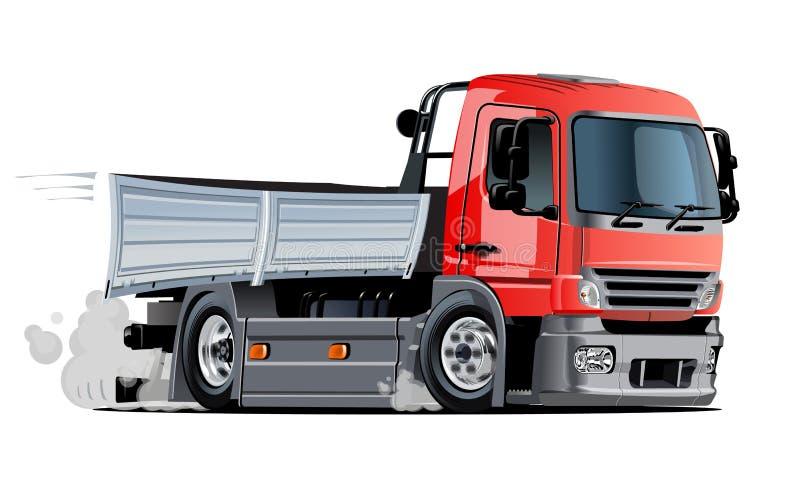 Tecknad filmleverans eller lastlastbil stock illustrationer