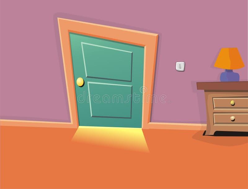 tecknad filmlokal vektor illustrationer