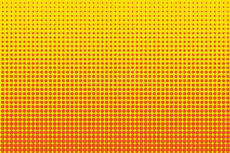 Tecknad filmmodell med cirklar, prickar, punkter Prickig bakgrund för halvton stil för popkonst också vektor för coreldrawillustr royaltyfri illustrationer