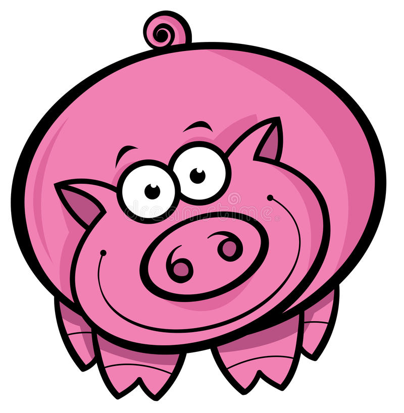 tecknad filmpig stock illustrationer