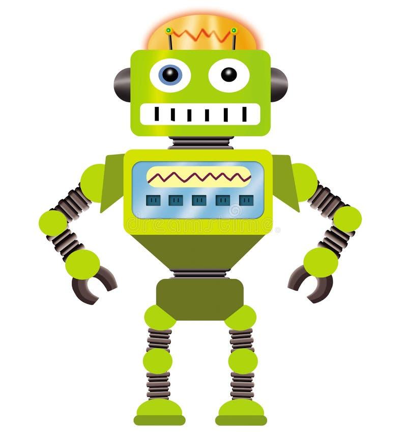 tecknad filmrobot royaltyfri illustrationer
