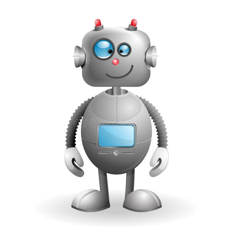 tecknad filmrobot stock illustrationer