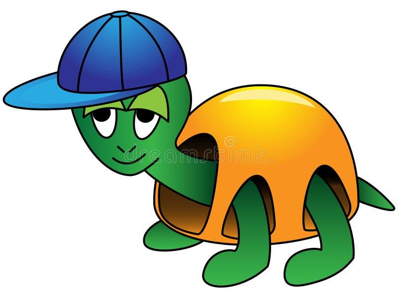 tecknad filmsköldpadda royaltyfri illustrationer