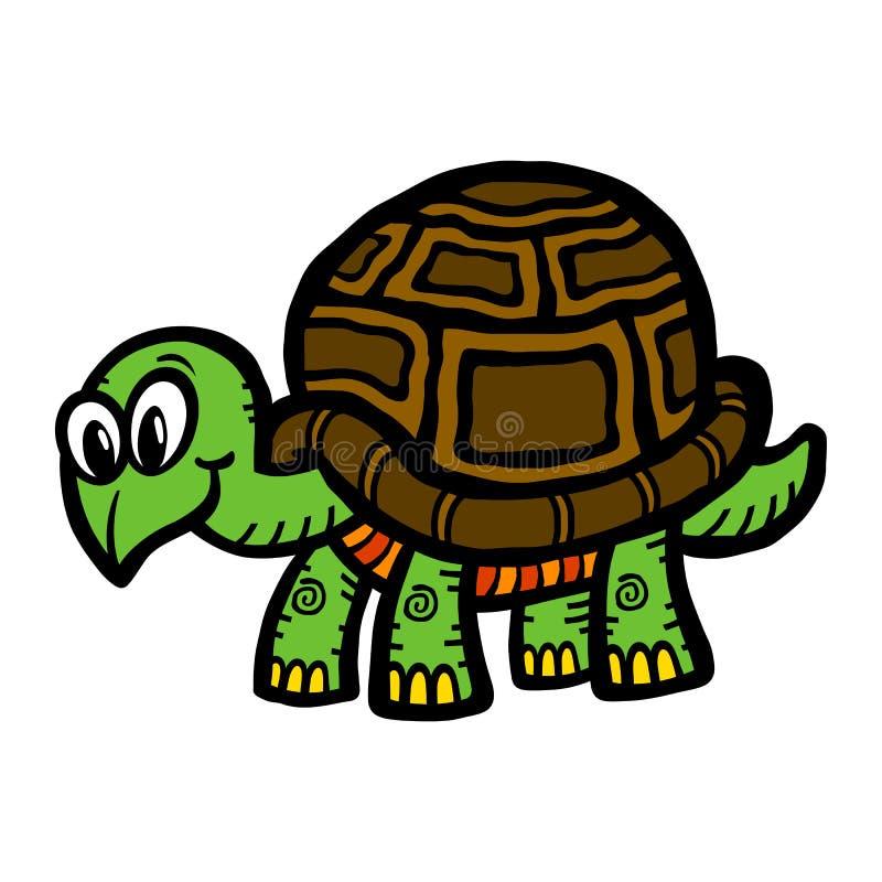 Tecknad filmsköldpadda stock illustrationer