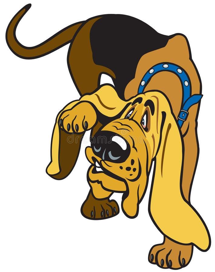 Tecknad filmspårhund royaltyfri illustrationer