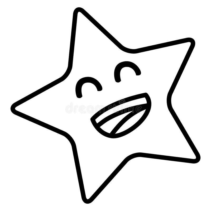Tecknad filmstjärnasymbol stock illustrationer
