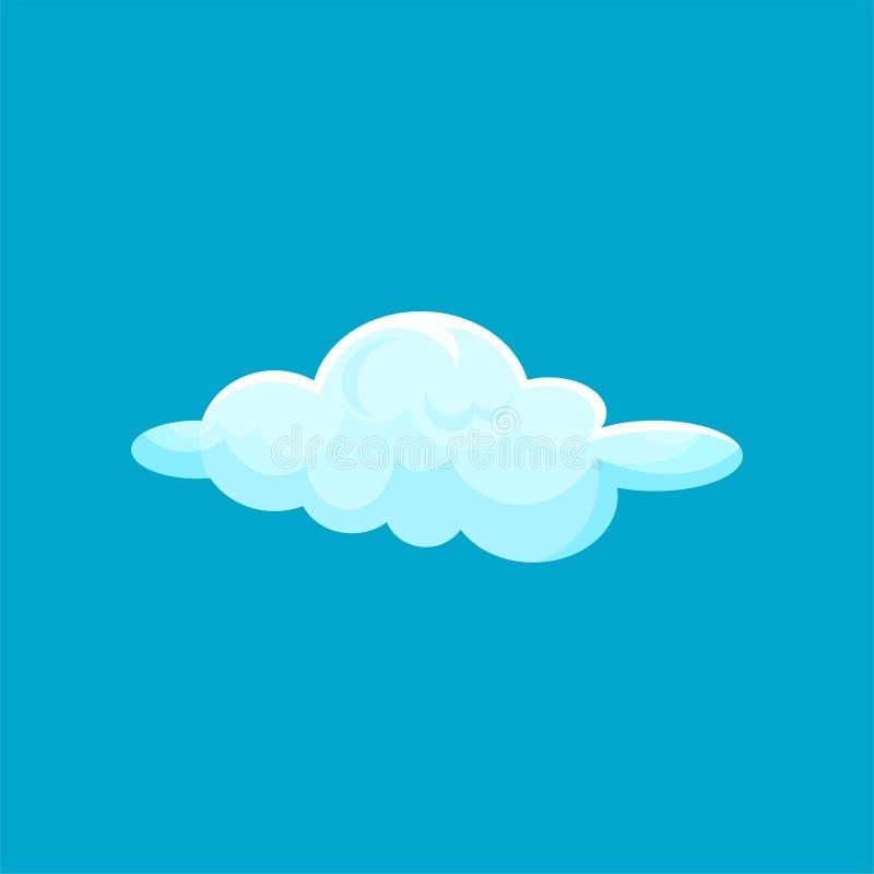 Tecknad filmsymbol av litet ljus - blått flygmoln Himmel- och väderbeståndsdel Plan vektor för barnbok, väggdekor eller royaltyfri illustrationer