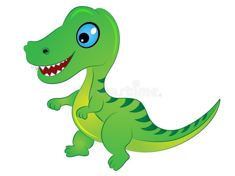 Tecknad filmT- Rex Dinosaur royaltyfri illustrationer