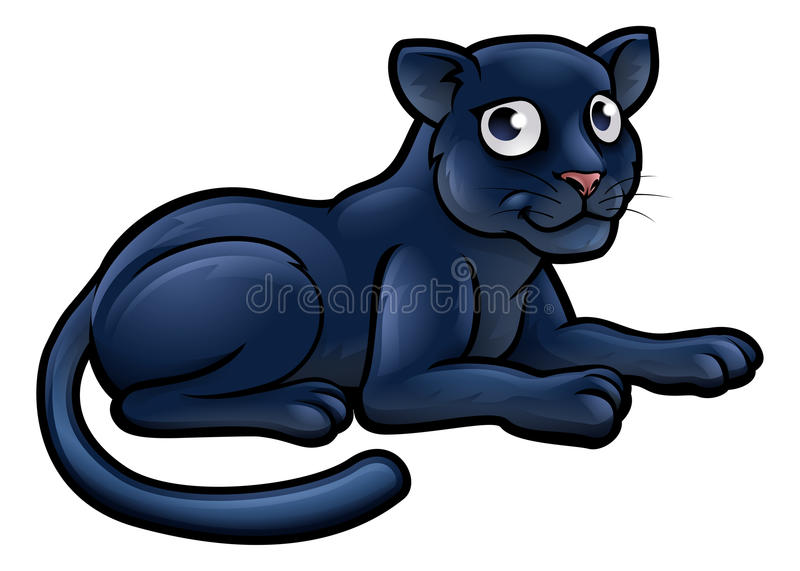 Tecknad filmtecken för svart panter stock illustrationer