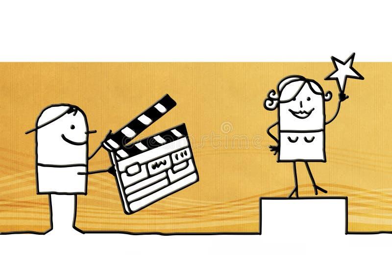 Tecknad filmtecken och filmdanande royaltyfri illustrationer
